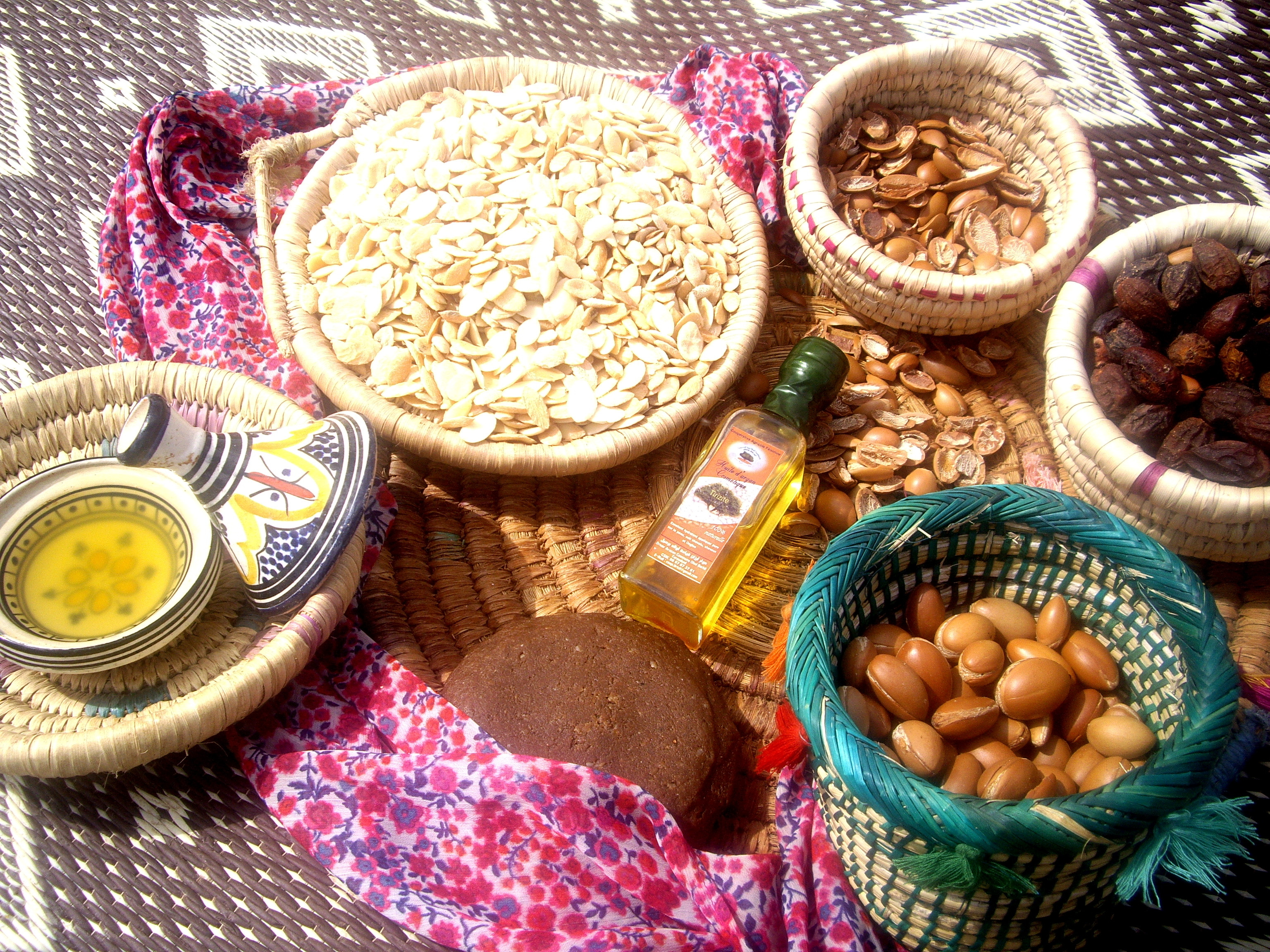 From nuts, kernels to Argan oil. At women cooperative in Arazane