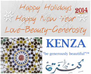 Happy Holidays KENZA International Beauty