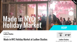 Made in NYC Holiday Market