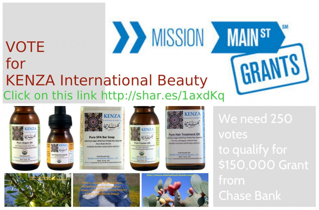 KENZA International Beauty Chase Mission Main Street Grant