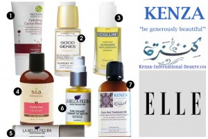 KENZA Pure Hair Treatment Oil in ELLE Magazine March 2015