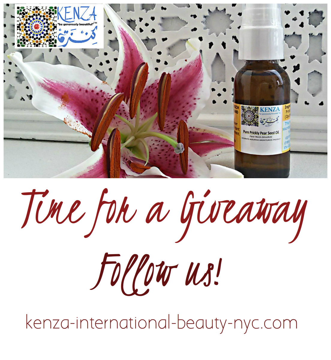 Two KENZA Pure Prickly Pear Seed Oil 1oz Giveaway