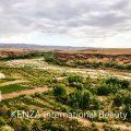 Green valley of Roses in the desert.