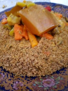 Whole grains couscous made and cooked by the women at Cooperative Tirizite Arazane