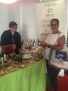 With Latifa Ait Abbou, Cooperative Tirizite at Les Produits du Terroir 2019 in Agadir