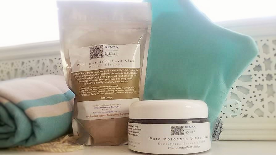 KENZA Moroccan Hammam Beauty Kit