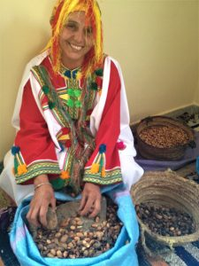 A Berber Woman At Cooperative Tirizite