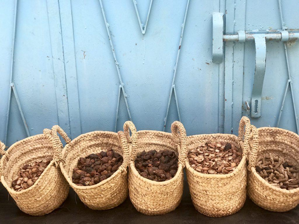 Argan Nuts in Baskets Taroudant by KENZA International Beauty