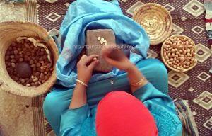 A Berber woman Argan nuts Arazane 2015